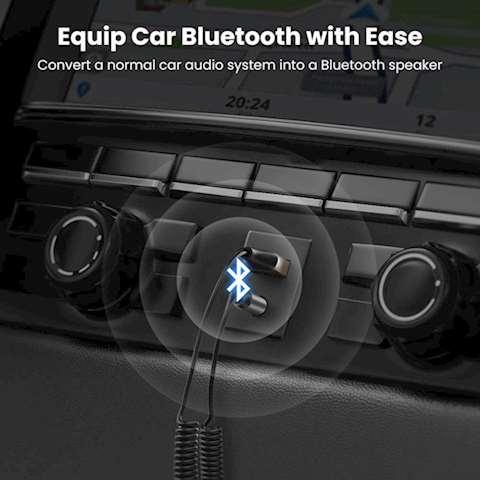 აუდიო ადაპტერი UGREEN CM309 (70601) USB to Aux Car Bluetooth 5.0 Receiver Audio Adapter Black