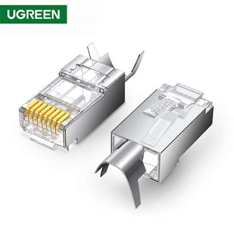 ქსელის კაბელის კონექტორი UGREEN NW123 (70316) 10Gbps Shielded Connector Cat6a Cat7 10PCS