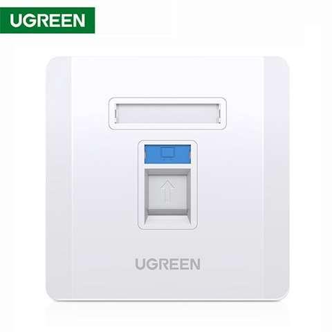 ინტერნეტის როზეტი UGREEN NW144 (80180) Wall Socket internet RJ45 Wall Plate Single Port საფარი