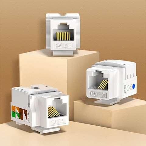 ინტერნეტის როზეტი კედლის RJ45 UGREEN NW143 (80178) Wall Socket internet Cat6 Network RJ45 Modules