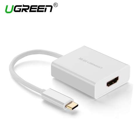 ადაპტერი UGREEN 40273 Type C to HDMI Adapter Support video output: 4K*2K@30Hz(Max) (White)