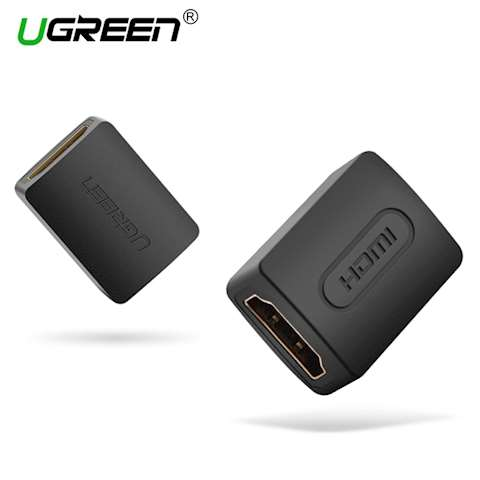 ადაპტერი UGREEN 20107 HDMI Female to Female Adapter (Black)
