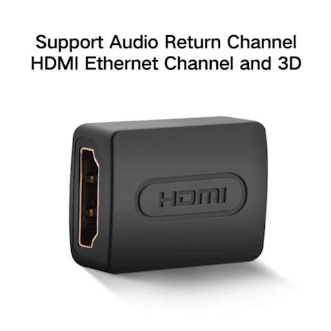ადაპტერი UGREEN 20107 HDMI Female to Female Adapter (Black)