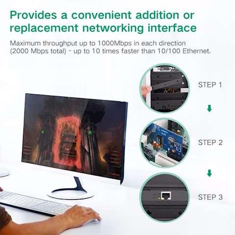 ქსელის ადაპტერი UGREEN US230 (30771) Gigabit 10/100/1000Mbps PCI Express Network Adapter