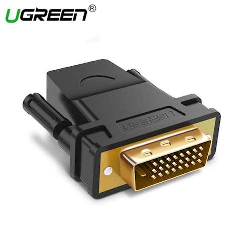 ადაპტერი UGREEN 20124 DVI 24+1 Male to HDMI Female Adapter (Black) 0 კომენტარი FacebookTwittergoogle_plusLinkedInVKOdnoklassniki