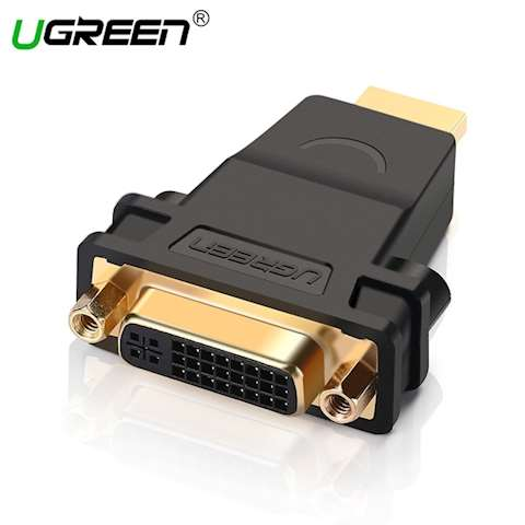 ადაპტერი UGREEN 20123 HDMI Male to DVI (24+5) Female Adapter (Black)