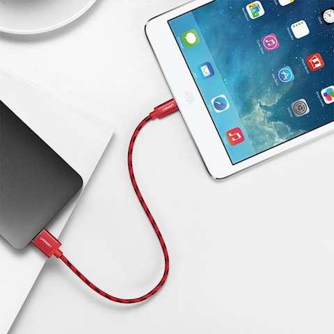 USB კაბელი UGREEN US247 (40479)USB Lightning Cable 1m (Red)
