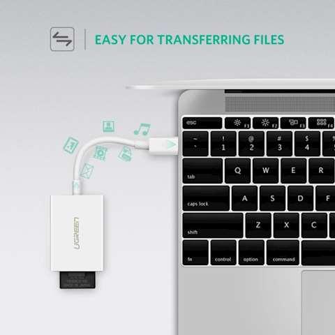 ბარათის წამკითხველი UGREEN US235 (40864) USB Type-C SD/TF Card Reader (4.0)