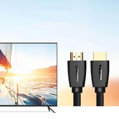 HDMI კაბელი UGREEN HD118 (40411) High-End HDMI Cable with Nylon Braid 3m (Black)