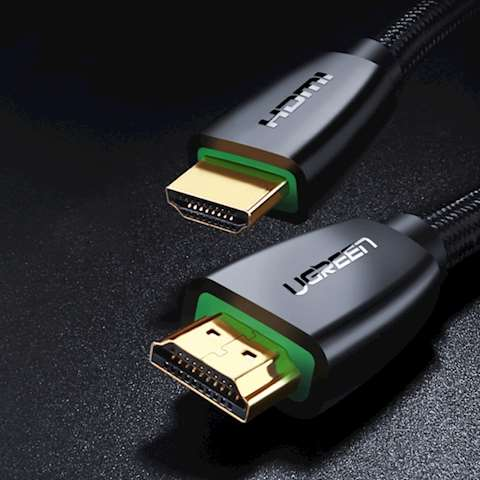 HDMI კაბელი UGREEN HD118 (40408) High-End HDMI Cable with Nylon Braid 1m (Black)