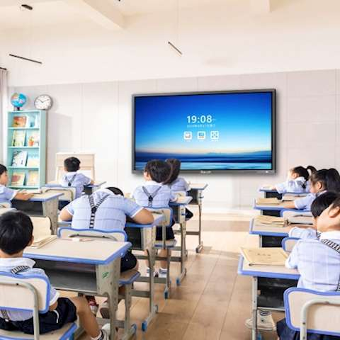 ინტერაქტიული ეკრანი, სმარტ ეკრანი Fitouch TVI65H8A 65 inch Brightness 350cd/㎡ RJ45 Resolution 3840 Lifetime 50000 hours Android version 6.0, Infrared touch 20 points