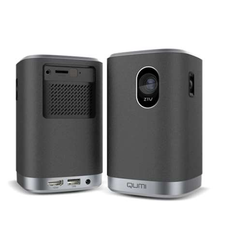 პროექტორი Vivitek Qumi Z1V 480p (854 x 480) Resolution 250 ANSI Lumens LED light source last up to 30,000 hours 8,000 mAh battery 5W x2 Bluetooth Speakers 10,000:1 contrast
