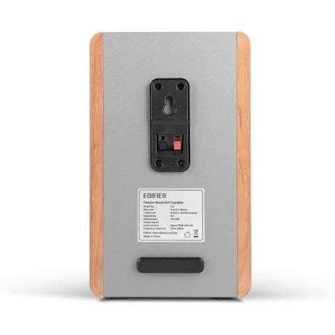 პასიური სტუდიური მონიტორი დინამიკი Edifier P12 Passive Bookshelf Speakers - 2-Way Speakers with Built-in Wall-Mount Bracket - (brown) Wood Color, Pair