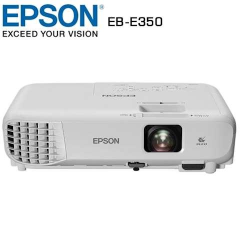 """პროექტორი Epson EB-E350 LCD: 3 x 0.55 """"P-Si TFT XGA (1024x768) 3100 ANSI lm Contrast: 10000: 1"""