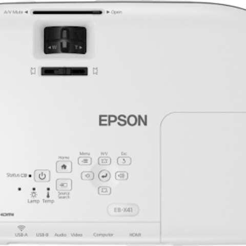 პროექტორი Epson EB-W41 WXGA 1280 x 800 3LCD Projector 3,600 Lumen Contrast 15,000 Wireless LAN IEEE 802.11b/g/n