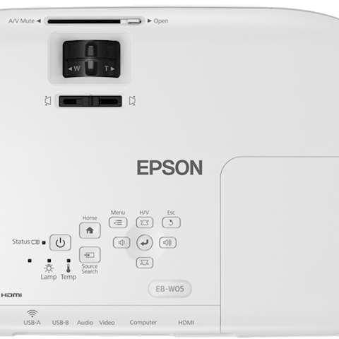 პროექტორი Epson EB-W05 WXGA 1280 x 800 3LCD Projector 3,300 Lumen Contrast 15,000 Wireless LAN IEEE 802.11b/g/n