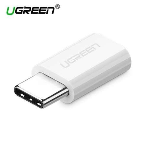 ადაპტორი UGREEN US157 USB 3.1 Type-C to Micro USB Adapter ABS case White Type C to Micro USB Adapter OTG Type-C Converter for Macbook One Plus 6 Type usb-C Adapter for LG G5 Xiaomi