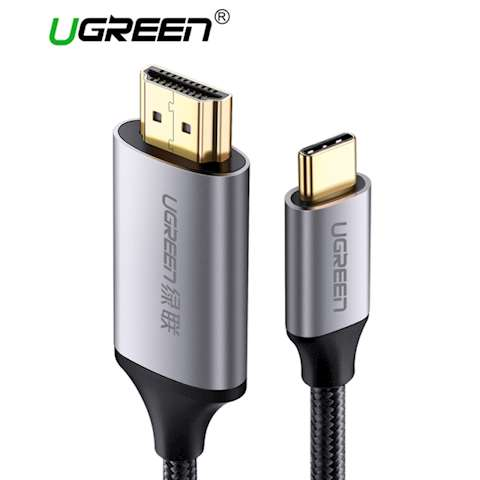 HDMI კაბელი Ugreen MM142 USB C HDMI Cable Type C to HDMI 1.5M Thunderbolt 3 for MacBook Samsung Galaxy S9 / S8 Huawei Mate 10 Pro P20 USB-C HDMI Adapter Type C to HDMI Cable 1.5M
