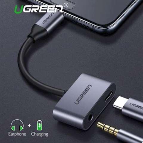 ადაპტერი UGREEN CM193 Type C to 3.5mm Audio+ Type C Female Adapter
