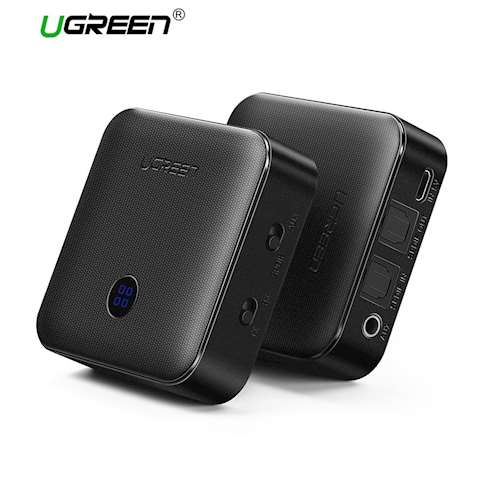 უსადენო გადამცემი ყურსასმენებისთვის და დინამიკებისთვის UGREEN CM144 Bluetooth Transmitter & Receiver Version 4.2 (Black)