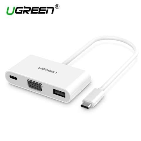 ადაპტორი Ugreen 30376 Type C To VGA Multiport Adapter + USB3.0 with PD power supply US163 15CM