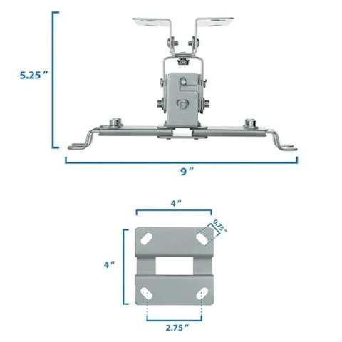 პროექტორის საკიდი 360° გრადუსით მბრუნავი ALLSCREEN PROJECTOR CELLING MOUNT CPMSR-360 ROTATE 360°
