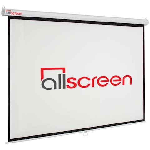 პროექტორის ეკრანი ALLSCREEN MANUAL PROJECTION SCREEN 244X244CM HD FABRIC CWP-9696 Diagonal 136 inch / 345 CM