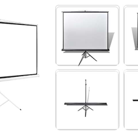 პროექტორის ეკრანი ALLSCREEN TRIPOD PROJECTION SCREEN 200X200CM HD FABRIC CTP-8080 110 inch