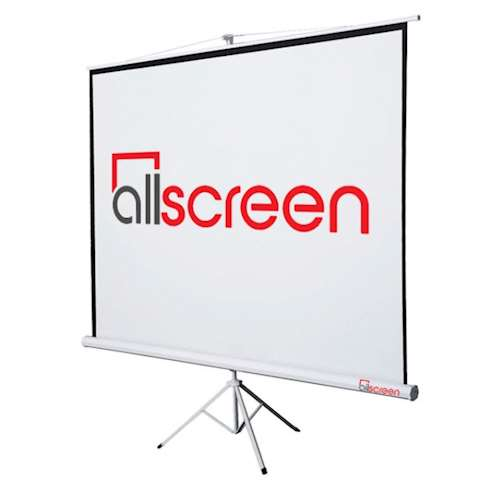 პროექტორის ეკრანი ALLSCREEN TRIPOD PROJECTION SCREEN 244 X 244 CM HD FABRIC CTP-9696