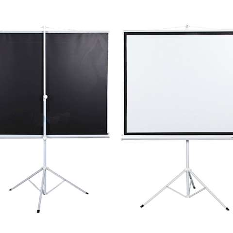 პროექტორის ეკრანი ALLSCREEN TRIPOD PROJECTION SCREEN 125X125CM HD FABRIC 75 inch