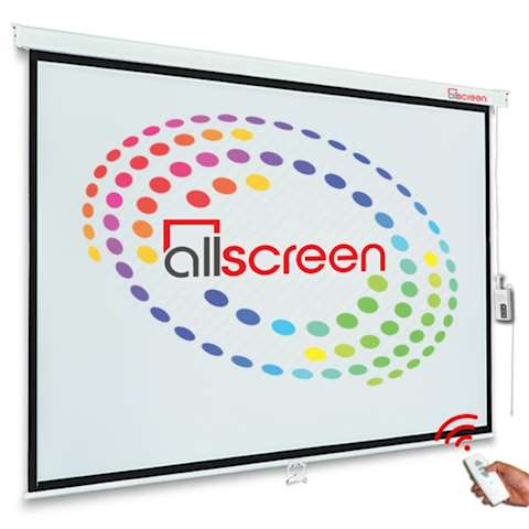 პროექტორის ელექტრო ეკრანი ALLSCREEN ELECTRIC PROJECTION SCREEN 200X200CM HD FABRIC CMP-8080 WITH REMOTE CONTROL 110 inch