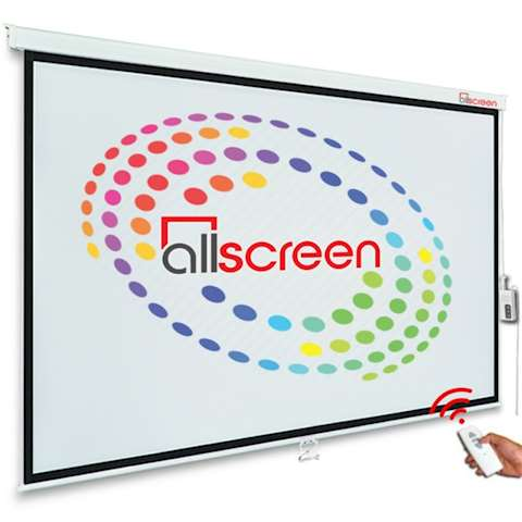 პროექტორის ელექტრო ეკრანი ALLSCREEN ELECTRIC PROJECTION SCREEN 295X220CM HD FABRIC CMP-15043 DIAGONAL 150 INCH / 381 CM