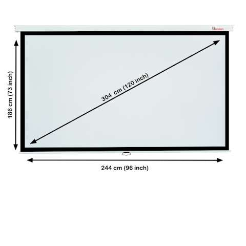 პროექტორის ეკრანი ALLSCREEN MANUAL PROJECTION SCREEN 244X186CM 16:9 HD FABRIC CWP-244186 Diagonal 120 inch / 304 CM