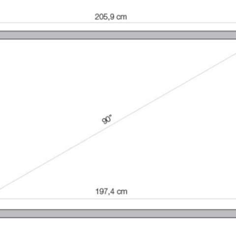 """ინტერაქტიული დაფა 2 პასიური სტილუსით, ინფრარედითLUXI SMARTBOARD 10 TOUCH 90"""" 10 TOUCH IR 90"""" (16:10) infrared: 10 simultaneous users, multigesture, MELAMINE not magnetic surface. 15 side touch buttons for fast access of most frequently used functions, 2 passive pens, 2 pen trays, 1 student extecible pen and wall supports included."""