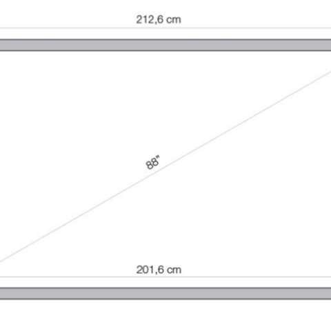 """ინტერაქტიული დაფა 2 პასიური სტილუსით, დინამიკით LIGRA LUXI SMARTBOARD 10 TOUCH 10 point touch IWB 88"""" (16:10) (10 users can works at same time in single-touch mode, 5 users can works at same time in multi-touch mode) INFRARED technology - 15 SIDE TOUCH BUTTONS FOR EASY/QUICK ACCESS TO THE FREQUENTLY USED FUNCTIONS ,two passive pens provided, no battery required, magnetic matt white coated steel surface, Teach Infinity software included"""