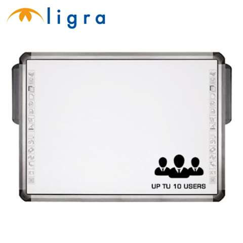 "ინტერაქტიული დაფა 2 პასიური სტილუსით LIGRA LUXI SMARTBOARD 10 TOUCH 10 point touch IWB 80"" (4:3) (10 users can works at same time in single-touch mode, 5 users can works at same time in multi-touch mode) INFRARED technology - 15 SIDE TOUCH BUTTONS FOR EASY/QUICK ACCESS TO THE FREQUENTLY USED FUNCTIONS ,two passive pens provided, no battery required, magnetic matt white coated steel surface, Teach Infinity software included"