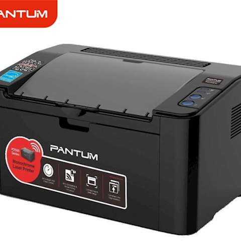 პრინტერი Pantum P2500W Monochrome Laser Printer 22ppm (A4) / 600 MHz / 128mb /USB 2.0 Hi-Speed; WiFi 802.11b/g/n 20,000 pages